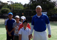 Inspire tennis lessons for kids sydney north shore Junior group program coach lesson Killara Lawn Tennis Club 10
