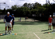 Inspire tennis lessons for kids sydney north shore Junior group program coach lesson Killara Lawn Tennis Club 9