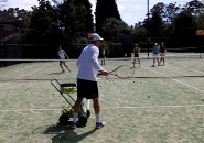 Womens Tennis Lessons Inspire Tennis Sydney North Shore Ladies Clinic on court 1