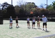 Womens Tennis Lessons Inspire Tennis Sydney North Shore Ladies Clinic on court 3